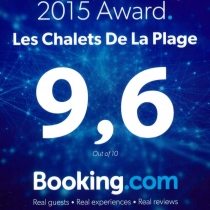 Excellente note sur Booking.com